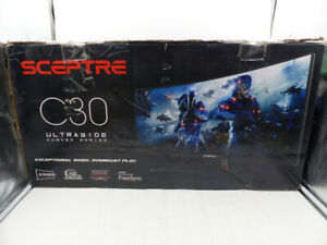 SCEPTRE C305B-200UN 30-INCH 21:9 2560 X 1080P CURVED ULTRAWIDE GAMING MONITOR