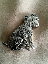 Broche ancien bijou vintage chien dog animalier brooch