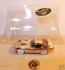 NEUF PIN'S BIJOU PRALINE HO 1/87 FERRARI GTO DORE OR METAL IN BOX NEUF