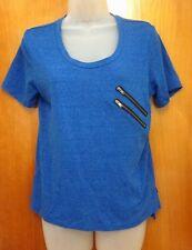 TEEN VOGUE new-wave throwback T shirt Mstylelab juniors med tee w/ zippers 2013