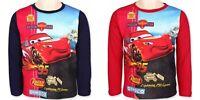 T-Shirt Langarm Cars Große 92-116, Farbe marine, rot