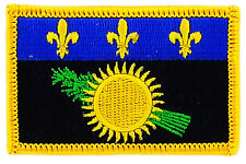 FLAG PATCH PATCHES FRANCE FRENCH GUADELOUPE  IRON ON EMBROIDERED SMALL