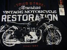 NEW mens SMALL HANES BEEFY-T SHIRT tee GIFT vintage motorcycle restoration BIKE