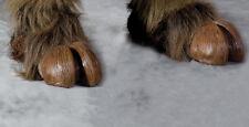 Brown Hooves Devil Demon Feet Adult Shoe Covers Latex Halloween Costume