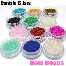 KLEANCOLOR 3D NAIL ART DECORATIONS PROFESSIONAL HOLO BEADS GLITTER - NA312E