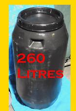 Aquaponics Grow Beds, 260 Lt Drum (Black Plastic)Barrels, Tanks, Compost Bin