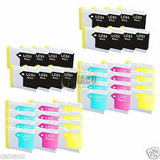 40+ Pack LC51 NON-OEM Ink Cartridge Brother Printer MFC-685CW MFC-440CN LC51