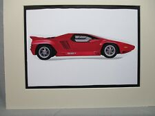 1992 Vector W8      Artist art Auto Museum Full color  Illustrated