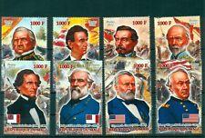 American Civil War Generals 8 MNH stamps set