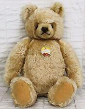 "Steiff Original Mask Teddy Bear 16"" Blond Mohair Austria EAN 0201/41? Lentil But"