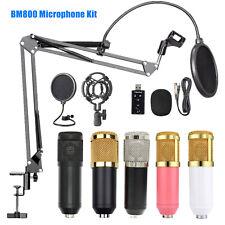 BM800 Pro Kondensator Microphone Mikrofon Kit Komplett Set für Studio