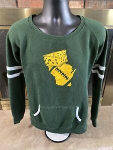 Green Bay Packers NFL Football Crewneck Sweatshirt Womens Large Cheesehead WI