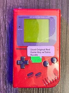 Nintendo Gameboy original DMG-01 Red System w/ Tetris