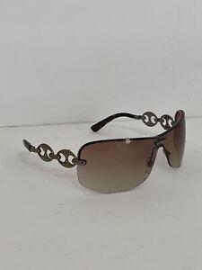 Gucci Rimless Shield Sunglasses Chain Link Design Womens