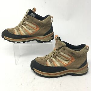 Timberland Junior 4 Womens 5.5 Gore-Tex Trail Hiking Boots Tan Leather 66933
