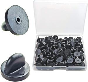 100pcs PVC Rubber Pin Backs Rubber Lapel Pin Backs For  Uniform Badge