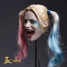 JXTOYS 1/6 Scale JX-012 Female Joker  Quinn  Head Sculpt Model for figure toys