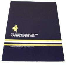 Vintage 1975 GOLD Miner Mining Annual Report with BIG Map