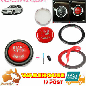 For BMW E Series E60 E70/71 E90 Red Car Start Button Switches Ring Replace kit