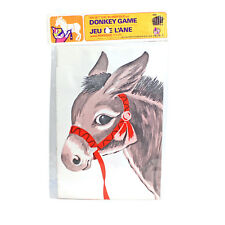Vintage PIN THE TAIL ON THE DONKEY Game With BLINDFOLD | Sealed | NEW OLD STOCK