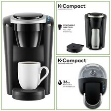 Keurig Coffee Maker K-Compact Single-Serve K-Cup Pod Brewing Machine Slim Black