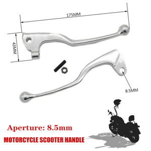 1Pair 8.5mm Motorcycle Scooter Bicycle Handle Front Brake Lever Clutch Universal