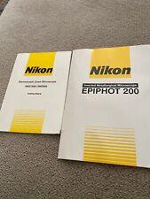 Oem Nikon Alphaphot 200 Smz100smz800 Microscope Instructions Manual Inst