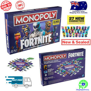 FORTNITE MONOPOLY 2019 Edition Board Game 27 New Characters Updated Board Spaces