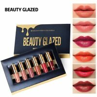 Lipstick LIP Matte 6 Colors Matte Set Waterproof Long Lasting BEAUTY GLAZED