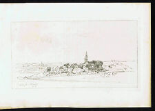 Village of Plogoff in France, Maxime Lalanne - 1882 Lithograph