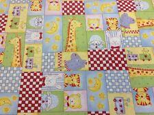 100 Cotton Quilting Craft Fabric Fabri-Quilt Baby Moon 100-186 Animals