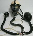 Gasmaske Fetisch Black Style  Gummischlauch Latex Inhalator Filter Mundstück