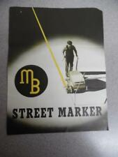 c.1939 MB STREET MARKER Road Paint Striping Machine Brochure Alsdorf Co Vintage