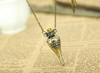 Harry Potter Felix Felicis Potion Liquid Luck Vial Bottle Metal Necklace Pendant