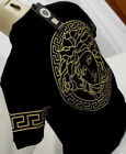 DOUBLE SIDE POLO Nwt Mens Black Versace GOLD Medusa Iconic Short  sleeve T Shirt