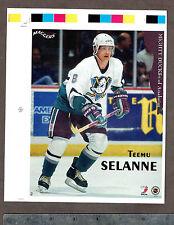"1996-97 Maggers Proof Anaheim Mighty Ducks' Teemu Selanne 7"" x 8.5"""