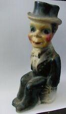 Vintage Chalkware / Chalk Carnival Prize Charlie McCarthy Statue