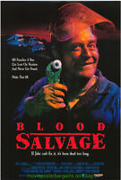 BLOOD SALVAGE MOVIE POSTER Original Single Sided 27x40 Rolled 1990 HORROR Film
