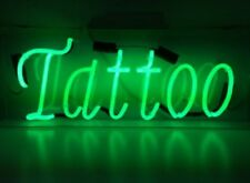 New Tattoo Open Body Piercing Lamp Artwork Handmade Acrylic Neon Sign 17""
