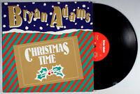 "Bryan Adams - Christmas Time (1985) Vinyl 12"" Single • PROMO • Holiday"
