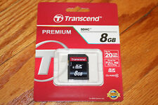 ~TRANSCEND PREMIUM SDHC 8GB MEMORY CARD UP TO 20MB/SEC CLASS10 RETAIL PACKAGE