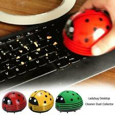 Cute Ladybug Desktop Vacuum Cleaner Mini ABS Dust Collector for Home Room Office