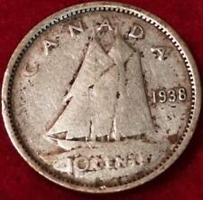 1938 Canadian Silver Dime  ID #18-16