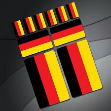 10 x Aufkleber Deutschland Flagge Fahne Stickers Auto Moto Fahrrad Motorrad KFZ