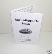 Repairing Victor Exhibition Sound Box Phonograph Gramophone Instruction Manual