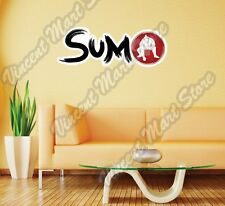 "Sumo Overweight Fighter Martial Japan Wall Sticker Room Interior Decor 25""X10"""