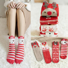 Christmas Socks Womens Cartoons Japanese Casual Comfort Knit Cotton Sock Girls