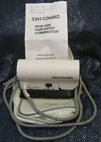 Vintage DecoSonic 2 in 1 Travel Combo Hair Dryer/Clothes Hot Iron