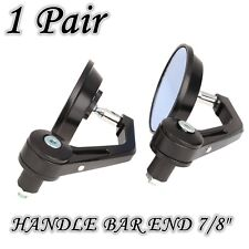 """MOTORCYCLE ALUMINUM SMALL ROUND CNC REAR VIEW SIDE MIRROR HANDLE BAR END 7/8"""""""