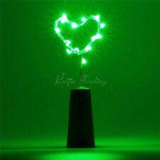 10 x Cork Shaped 15/20 LED Night Starry Light Wine Bottle Lamp Wedding Party New